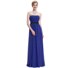 Starzz 2016 Fashion Strapless Chiffon Dark Blue Long Evening Dress Cheap Evening Party Dress ST000066-5