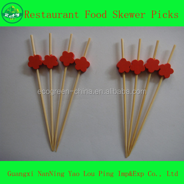 Customized shape logo craft skewer bamboo stick buy for Where to buy bamboo sticks for crafts