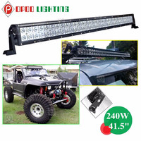 40 Inch 240w curved c ree led light bar, factory wholesale curved led light bar C ree chip