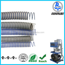 flexible PVC steel wire reinforced plastic suction hose pipe for electric wire cable