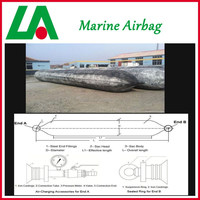 High-performance use for ship launching marine inflatable rubber type boat airbag