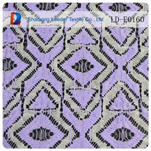 jacquard elastic lace in purple african heavy lace can be provided free sample lace