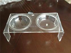clear High quality acrylic dog bowls, cat bowl