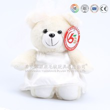 Mini wedding bears toys & big wedding plush teddy bear & bear wedding dress