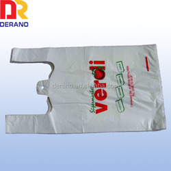 2014 HDPE custom made clear plastic pe shopping bag