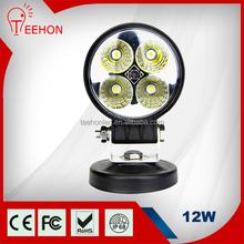 12W LED mechanics work lamp round for ATV, SUV, 4x4 working lamp