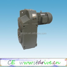 ST Drive Brand F series Hollow shaft reduction gearbox with AC 3phase motor