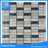 Wooden Grey Long Square Marble Stone Tile + Black Marble tile