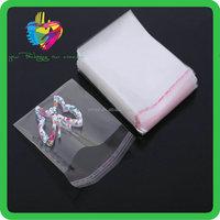 clear self adhesive plastic bag waterproof cellophane bags recycled opp/bopp bag