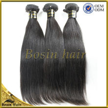 Virgin Brazilian Indian Mongolian Straight Human Hair Weave Remy Human Hair Extensions Color 1B Can Be Dye