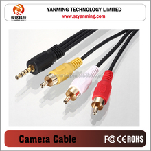 3.5mm audio to 3 RCA cable for sony camera