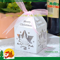 laser cut paper mini white cupcake boxes for christmas