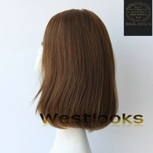Hot Sale Medium Brown Color Lace Front 100% Virgin Human Hair Mongolian Jewish Wig