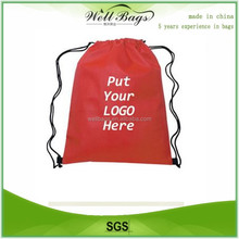 Waterproof backpack custom drawstring bag,polyester bag, sports backpack
