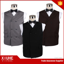 cheap designer double-breasted waistcoat cotton business casual double-breasted lapel vest