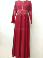 China abaya manufacturer kaftan factory caftan OEM muslim long dress red abaya collection lace abaya