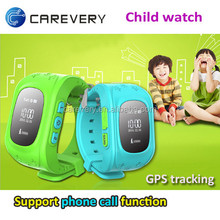 High quality smart watch for kids with gps function, wrist gps tracking device for children