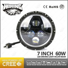 NEW Product Bright White/Amber/Blue 7'' LED Head Lamp Round Day Fog Light Car Auto DRL Driving Daytime Running DRL Jeep Ofroad