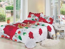 Brand new 3d 100%polyester printed cotton fabrics new design patchwork quilt home bedspread