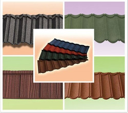 popular colorful stone coated metal roofing tile / metal corrugated tile roofing