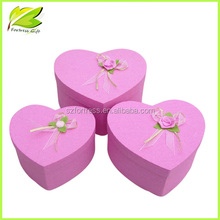 2015 New Arrival Pink Heart shape paper gift box