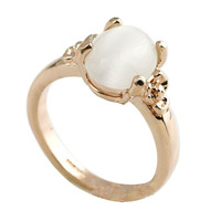 Fashion beautiful Simple opal rings of factories in guangzhou single stone ring designs for women