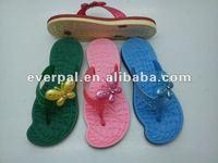 2013 unique shape design colorful wholesale PVC strap for slipper lady slipper beach slipper