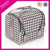 2015 NOCONI new design plover plaid cosmetic case beauty tools makeup case manufacturer