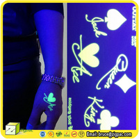 face flash country dragon flag glow in the dark letter body temporary tattoo sticker for kid