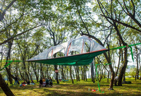 forest campling use outdoor leisure suspended air tent hanging between trees