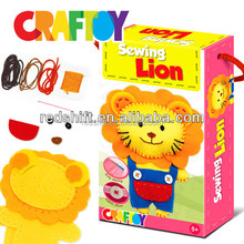 girl craft and boy toy Design your sewing animal Lion