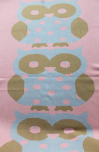 knitted owl pattern cartoon cashmere blanket baby