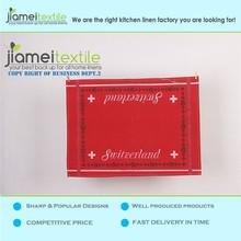 Wholesale 100% Cotton Red Waffle Weave Kitchen Tea Towel/Dish Towel