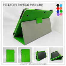 Flip tablet protective pu leather case cover For Lenovo ThinkPad Helix