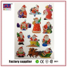 Christmas gift epoxy resin sticker vinyl sticker for mobile phone