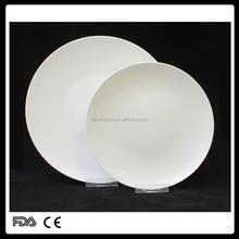 2015 new design round porcelain dishes for dinner