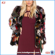 Wholesale Custom Women's Fashion Winter Coat Dyed Lamb Fur Jacket Charming Multi Color Coat