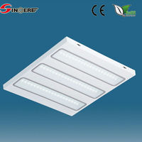 recessed type indoor Square 600*600mm LED Fluorescent Light Panel with prism cover