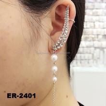 2015 Ear Accessories Wholesale Women Crystal Ear Cuff Wrap Clip Earring