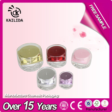 Clear crystal feeling acrylic cream jar / beauty packaging