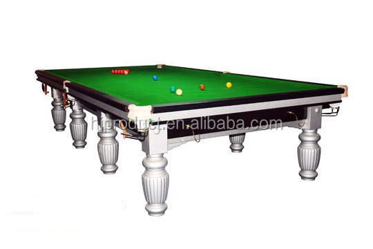 Table de billard 12ft britannique en bois massif avec ardoise table de billa - Taille table snooker ...