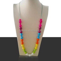 Alibaba china latest top grade teething necklace baby silicone