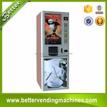 LCD screen coffee vending machine/4hot4chilled automatic coffee dispenser manufature