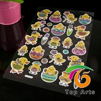 DIY Customized Funny Decorative egg Easter Stickers, easter decoration stickers, easter holiday decoration
