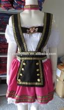 china proveedor oktoberfest traje de fantasía de color rosa niña alemán cerveza adultos traje de disfraz de halloween