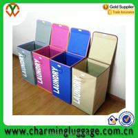 premuim cheap folding fabric wooden clothes storage box/laundry box