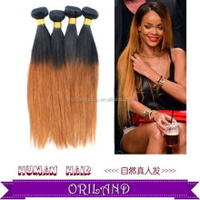 wholesale 100% Indian human remy hair 6a cheap Hot Sale Silky Straight ombre hair extensions