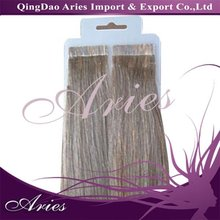 High Quality Unprocessed 100% remy nail sticker hair extensions