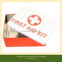 first aid kit tin box