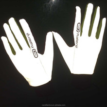 China EN471 hot sale glow in the dark night safety white glow gloves